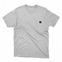 Remera lisa blanca logo olla negra en el pecho